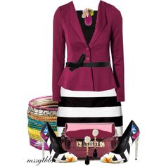A fashion look from April 2013 featuring Plein Sud tops, Vero Moda blazers y Lipsy mini skirts. Browse and shop related looks.