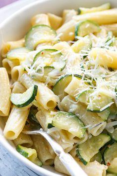 ... rigatoni creamy spring onion and zucchini rigatoni with pecorino 77