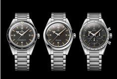 Introducing the Omega 1957 Trilogy - Seamaster 300 Anniversary the Omega Railmaster Anniversary and the Omega Speedmaster Anniversary Omega Railmaster, Dream Watches, Luxury Watches, Cool Watches, Watches For Men, Wrist Watches, Men's Watches, Fine Watches, Casual Watches