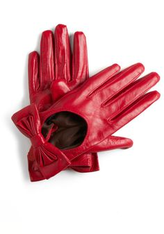 Crimson red gloves, just need the sports car.