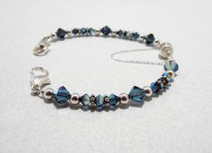 Blue Interchangeable Medical ID Bracelet with Magnetic by EZonIDs, $29.00