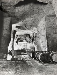 The underground tuffeau quarries that were used to build the castles of the Loire have been transformed into winemaking cellars.