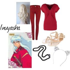 Inuyasha Casual Cosplay by jewel-taylor on Polyvore featuring Anna Field, Hudson…