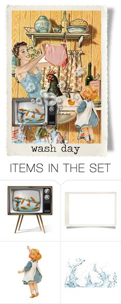 """There's a chicken in the sink!"" by sheila-ball ❤ liked on Polyvore featuring art"