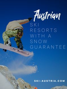 Find out more about Austria's high-altitude ski resorts. Ski-Austria looks at five destinations with snowsure skiing throughout the winter season. Austrian Ski Resorts, Ski Austria, Ski Holidays, During The Summer, Winter Season, Skiing, Snow, Seasons, Ski