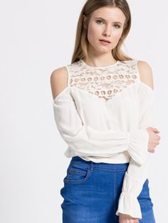 Bluza cu umerii goi decupati Guess Guess, Casual, Tops, Women, Fashion, Moda, Fashion Styles, Fashion Illustrations, Woman