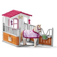 The Horse Stall with Lusitano Mare from the Schleich Horses and Riding collection - Discounts on all Schleich Toys at Wonderland Models. One of the new items in the Schleich Horse Riding Sets and Accessories range is the Horse Stall with Lusitano Mare. Toys Uk, Pet Toys, Figurine Schleich, Stall Signs, Mare Horse, Big Horses, Horse Accessories, Horse Stalls, Jurassic World