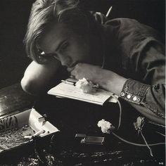 Lucius at his desk, 1975, taken by Sirius Black