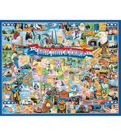 """White Mountain 1000 Piece Jigsaw Puzzle 24""""X30""""-USA"""