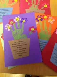 Mother's Day handprint card and poem