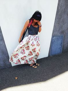 Pretty Quirky Pants | 50's Skirt Adventure #3 - DIY Silk Maxi