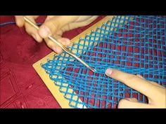 Como Tejer en Telar Cuadrado un Tejido Diagonal - YouTube