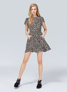 TALULA PANTAGES DRESS - Spotted: a flutter-sleeve minidress in a fun leopard print