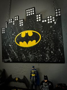 Batman Sign Batman Wall Art Batman Decor by RusticDesignKC