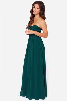 Green Maxi Dress - Strapless Dress - Maxi Dress - $68.00
