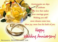 Happy Anniversary Wishes Images and Quotes. Send Anniversary Cards with Messages. Happy wedding anniversary wishes, happy birthday marriage anniversary Happy Marriage Anniversary Quotes, Wedding Anniversary Message, Anniversary Wishes For Friends, Wedding Anniversary Pictures, Wedding Anniversary Greetings, Happy Wedding Anniversary Wishes, Wedding Anniversary Invitations, Anniversary Verses, Wedding Congratulations