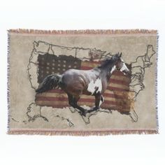 A gorgeous work of art featuring a noble Native American Paint Horse who is also a Pinto, galloping across a map of the United States with patriotic US flag also in the background. A great design celebrating the Horse through American history, in this case the fabulous, heroic days of the Pony Express! This beautiful artwork will appeal to animal-lovers and especially to those with a particular fondness for history and the magnificent Horse! Designed by Val Brackenridge ©, from her ...