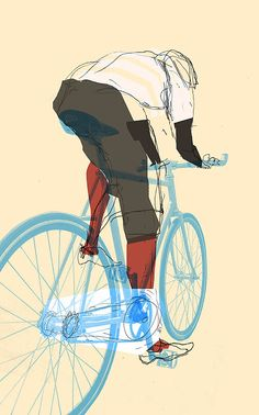 'Fixed gear' cycle art by Stacey Innerst.
