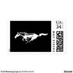 Ford Mustang Logo Stamp  #Ford #Mustang #Logo #Stamp #horse #animals #letter #zazzle #gifts #blackandwhite #black
