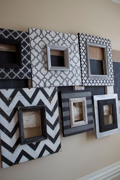 Wall Unit Grouping of Picture Frames Distressed by deltagirlframes