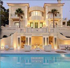 Dream Home Design, Modern House Design, My Dream Home, Dream Mansion, Modern Mansion, Luxury Homes Dream Houses, Dream House Exterior, Pool Houses, House Goals