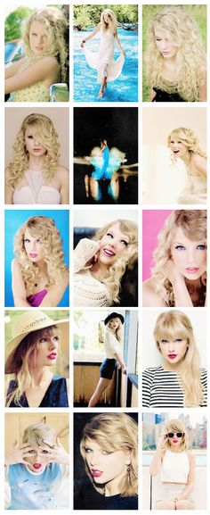 Album Photoshoots Through the Years : Taylor Swift the album (2006), Fearless (2008), Speak Now (2010), Red (2012), 1989 (2014)