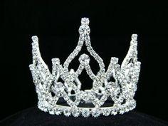 bun tiara bridal