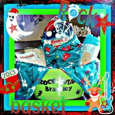 "Christmas Eve Basket☆New pjs for Christmas morning,Christmas DVD, popcorn, hot cocoa & a mug :) Put it on the porch from ""Santa's elfs""♥"