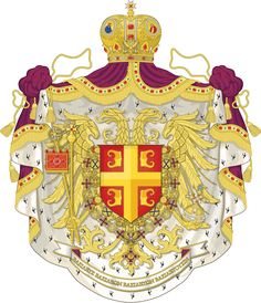 If the Byzantine Empire had lasted longer their coat of arms might have looked something like this. Surviving Byzantine Empire - Coat of arms Byzantine Architecture, Art And Architecture, Banner, Flag Art, Byzantine Art, Alternate History, Ornaments Design, Knights Templar, Family Crest
