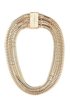 Flat Chain Layered Necklace