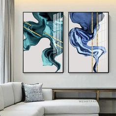 Framed Wall art Set of 2 Prints Geometric Abstract Gold Navy Blue Green Print Painting Painting on Canvas Gold Art Large Wall Art Abstractos Wall Art Sets, Large Wall Art, Framed Wall Art, Canvas Wall Art, Wall Art Prints, Landscape Prints, Gold Art, Wall Art Pictures, Green Print