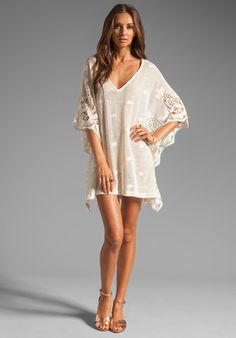 www.mylifewhileshopping.com  EBERJEY Gypsy Traveler Farrah Cover Up in Natural at Revolve Clothing - Free Shipping!