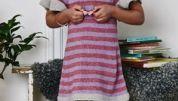 Strikkeopskrift: Pigekjole med flæser Pajamas, Journal, Shoes, Fashion, Pjs, Moda, Shoe, Shoes Outlet, Fashion Styles
