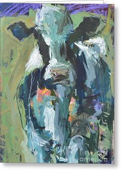 Abstract Cow Painting Greeting Card By Robert Joyner Abstract Art Images Cow Painting Abstract