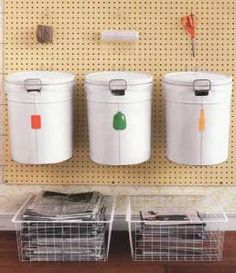 This Pegboard Idea Is A Great Way To Organize Recyclables. Recycling  Center, Recycling Bins