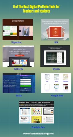6 of The Best Web Tools for Creating Digital Portfolios ~ Educational Technology and Mobile Learning