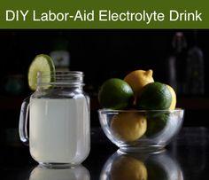 DIY Labor-Aid Electrolyte Drink...http://homestead-and-survival.com/diy-labor-aid-electrolyte-drink/