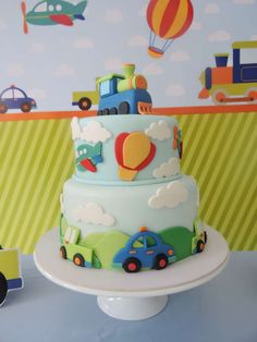 Ideas for transportation birthday parties 2nd Birthday Cake Boy, Toddler Birthday Cakes, 2nd Birthday Party Themes, Cars Birthday Parties, Birthday Ideas, Transportation Birthday, Party Ideas, Cake Mold, Baby Baby