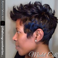 - All For Hairstyles Short Sassy Hair, Short Hair Cuts, Pixie Cuts, Short Relaxed Hairstyles, Cool Hairstyles, Pixie Hairstyles, Hairdos, Curly Hair Styles, Natural Hair Styles