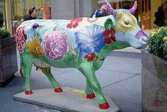 fiberglass cows in chicago - Google Search