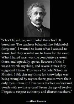 Albert Einstein said what?! (I still love teachers)