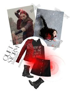 """""""Scarlet Witch"""" by windsinger ❤ liked on Polyvore featuring Retrò and Steve Madden"""