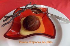 De jolis petits Pains d'épices en fête. Vous aurez le choix de les servir avec un sabayon au vin doux ou à l'orange.