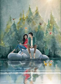32 Ideas wallpaper couple art for 2019 Love Cartoon Couple, Cute Love Cartoons, Anime Love Couple, Cute Couple Drawings, Love Drawings, Couple Illustration, Illustration Artists, Animated Love Images, Romantic Cartoon Images