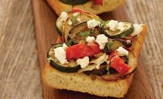 Start your meal with an easy  appetizer that incorporates every ingredient under the Tucsan sun with the Roasted Tuscan Style Blend Ciabatta Bruschetta!