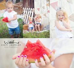 Watermelon ♥ Family Photography | Portraits | Photo Session Inspiration | Pose Idea | Poses | Summer