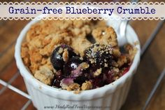 grain-free blueberry crumble