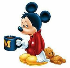 Mickey before coffee