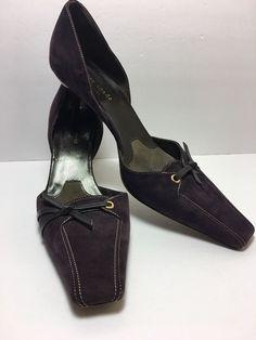 Kate Spade D'Orsay Women's Sz 10 Suede Plum Heels | eBay