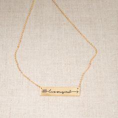 "Glory Haus - Always Live Original Sadie Robertson Gold Horizontal 18"" Necklace"